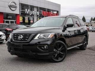 Used 2018 Nissan Pathfinder SL 4WD Midnight Edition leather, intelligent key, reverse camera, nav, electric seats, lumbar support, heated seats, moonroof, tilt steering, CD for sale in Orleans, ON