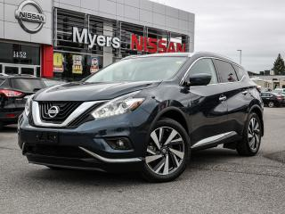 Used 2018 Nissan Murano Platinum AWD leather, heated and cooling seats, electric moonroof, for sale in Orleans, ON