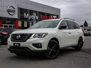 Used 2018 Nissan Pathfinder SL 4WD Midnight Edition leather, reverse camera, heated seats, electrc seats, intelligent key, moonroof, tilt steering, CD, Bleutooth for sale in Orleans, ON