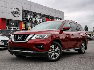 Used 2018 Nissan Pathfinder SL 4WD leather, reverse camera, tilt steering, intelligent key, electric seat, heated seats, moonroof, CD, Bluetooth for sale in Orleans, ON