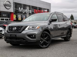 Used 2018 Nissan Pathfinder SL 4WD Midnight Edition leather, heated seats, moonroof, power seats, reverse camera, cruise control, tilt steering, lumbar support, CD, Bluetooth for sale in Orleans, ON