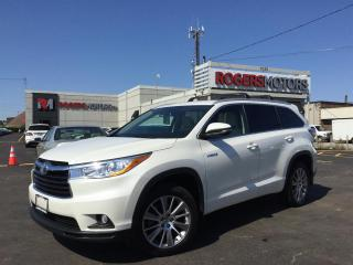 Used 2015 Toyota Highlander HYBRID XLE AWD - NAVI - 8 PASS - LEATHER - SUNROOF for sale in Oakville, ON