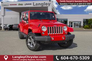 Used 2018 Jeep Wrangler JK Unlimited Sahara <B>*LOCAL BC  *NO ACCIDENTS *SINGLE OWNER</B> for sale in Surrey, BC