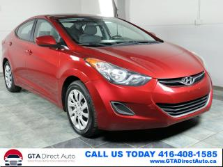 Used 2012 Hyundai Elantra GLS Auto Bluetooth HeatedSeats Cruise Certified for sale in Toronto, ON