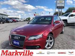 Used 2010 Audi A4 2.0T PREMIUM-LEATHER-CERTIFIED PRE-OWNED-1 OWNER for sale in Markham, ON