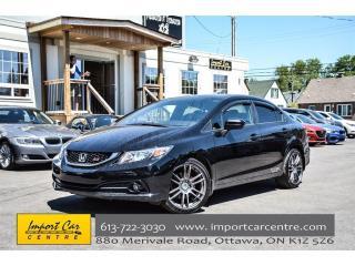 Used 2015 Honda Civic Sedan Si 6 SPEED NAVI HONDA WARRANTY TO 200,000KMS!! for sale in Ottawa, ON