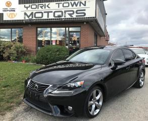 Used 2014 Lexus IS 350 LUXURY PACKAGE|BSM|NAV|HEAT+COOL SEATS|AWD|BKCAM for sale in North York, ON