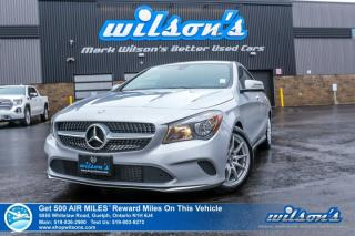 Used 2017 Mercedes-Benz CLA-Class 250 AWD - Leather, Navigation, Bluetooth, Heated + Power + Memory Seats, Alloys and more! for sale in Guelph, ON