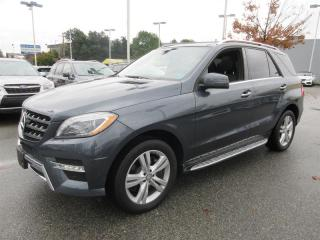 Used 2015 Mercedes-Benz ML 350 BlueTEC 4MATIC LOW KM DIESEL - BLUETOOTH - HEATED SEATS - 360 CAMERA - NAVIGATION - LEATHER - POWER TAILGATE for sale in Vancouver, BC