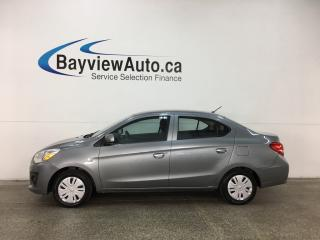 Used 2018 Mitsubishi Mirage G4 ES - 5 SPEED! A/C! BLUETOOTH! PWR GROUP! CRUISE! for sale in Belleville, ON