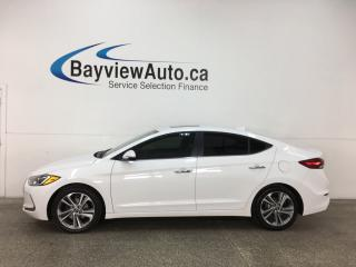 Used 2017 Hyundai Elantra GLS - ALLOYS! TINT! SUNROOF! HTD LTHR! BSD! INFINITY! for sale in Belleville, ON