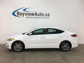 Used 2017 Hyundai Elantra GL - ALLOYS! HTD SEATS! BSD! REVERSE CAM! CRUISE! for sale in Belleville, ON