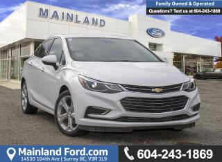 Used 2017 Chevrolet Cruze Premier Auto *ACCIDENT FREE* for sale in Surrey, BC