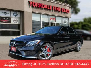 Used 2015 Mercedes-Benz C-Class Navigation, Red Int, Camera, Burmester for sale in Toronto, ON
