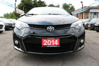 Used 2014 Toyota Corolla S LEATHERSUNROOF ALLOYS BACKUP CAM ACCIDENT FREE for sale in Brampton, ON