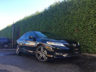 Used 2017 Honda Accord Coupe TOURING + NAV + SUNROOF + FT/RR PARK ASSIST + BACK-UP CAMERA for sale in Surrey, BC
