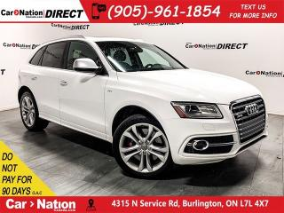 Used 2015 Audi SQ5 3.0T  RED LEATHER  PANO ROOF  AWD  for sale in Burlington, ON