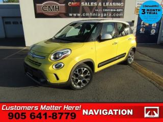 Used 2014 Fiat 500 L Trekking  MANUAL NAV PANO-ROOF BT HS  ALLOYS for sale in St. Catharines, ON