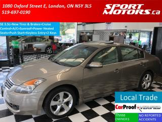 Used 2007 Nissan Altima 3.5 SE+New Tires & Brakes+Sunroof+Heated Seats+A/C for sale in London, ON