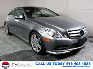 Used 2013 Mercedes-Benz E-Class E350 Coupe 4Matic NAV PANO Camera P1 AMG Certified for sale in Toronto, ON