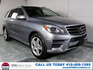 Used 2014 Mercedes-Benz ML 350 ML350 BlueTEC 4MATIC NAV PANO LEATHER P1 CERTIFIED for sale in Toronto, ON