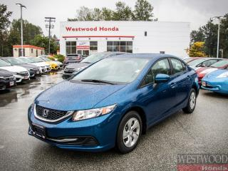 Used 2015 Honda Civic LX , Factory Warranty Until 2022 for sale in Port Moody, BC