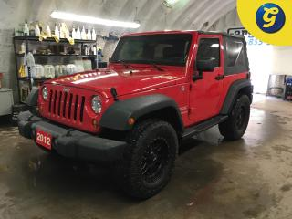 Used 2012 Jeep Wrangler SPORT*4WD*17 INCH DAT ALLOYS/AMP OFF ROAD TIRES*DOWNHILL ASSIST*PHONE CONNECT/STEERING WHEEL CONTROL*VOICE RECOGNITION*STEP BARS*SOFT TOP*TOW HOOKS FR for sale in Cambridge, ON