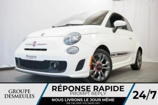 Used 2015 Fiat 500 SPORT + TURBO + BLANC PERLE **WOW** for sale in Laval, QC