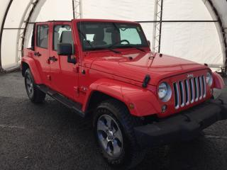 Used 2016 Jeep Wrangler Unlimited Sahara LEATHER HTD SEATS, DUAL TOPS, NAV, 6.5 TOUCH, ALPINE SYSTEM for sale in Ottawa, ON