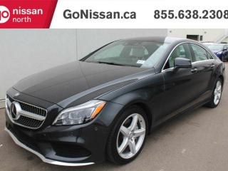 Used 2015 Mercedes-Benz CLS-Class CLS 400, VERY LOW KMS, 4MATIC, ADAPTIVE BOLSTERING, MASSAGING SEATS, HARMON/ KARDON SOUND SYSTEM, 18' AMG, for sale in Edmonton, AB