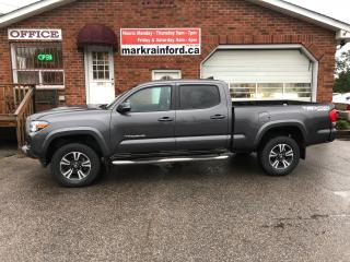 Used 2016 Toyota Tacoma SR5 Sport Crew 4x4 V6 Navigation Bluetooth Camera for sale in Bowmanville, ON