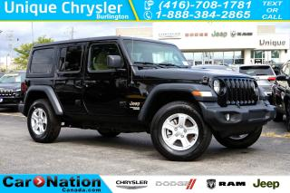 Used 2018 Jeep Wrangler UNLIMITED SPORT| 6-SPD M/T| REAR CAM| ANDROID AUTO for sale in Burlington, ON