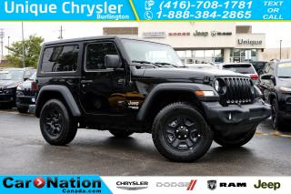 Used 2018 Jeep Wrangler SPORT| 6-SPD M/T| REAR CAM| BLUETOOTH & MORE for sale in Burlington, ON