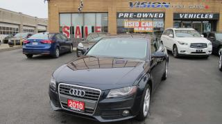 Used 2010 Audi A4 2.0T Premium/SUNROOF/B UP SENSORS/B&O STEREO for sale in North York, ON