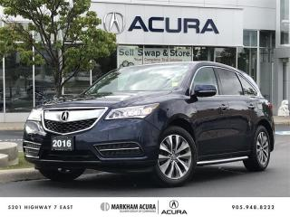 Used 2016 Acura MDX Tech - Power Liftgate | Rear Entertainment System for sale in Markham, ON