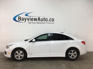Used 2016 Chevrolet Cruze - TURBO! TINT! SUNROOF! PIONEER! REVERSE CAM! for sale in Belleville, ON