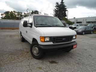 Used 2006 Ford E350 CARGOVAN,4 NEW TIRES,4 NEW BRAKES,ROOF RACK,BUILT for sale in Oakville, ON