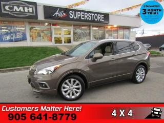 Used 2017 Buick Envision Premium II  AWD, PANO-ROOF BU-CAM BT HS/CS NAV REMOTE LEATH LANE-DE for sale in St. Catharines, ON