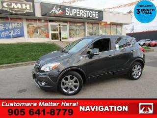 Used 2016 Buick Encore Premium  LEATHER NAV ROOF REMOTE LANE-DEPART BU-CAM HS for sale in St. Catharines, ON