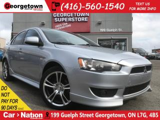 Used 2013 Mitsubishi Lancer SE ALLOY WHEELS| SPOILER| TINT| PWR GROUP for sale in Georgetown, ON
