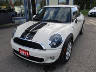 Used 2011 MINI Cooper LOADED 'S-TYPE' 4 PASSENGER 1.6L - TURBO.. LEATHER.. HEATED SEATS.. CD/AUX/USB INPUT.. POWER DUAL SUNROOF.. for sale in Bradford, ON