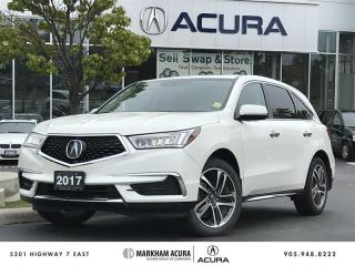 Used 2017 Acura MDX Tech - Technology Pkg, Rear DVD for sale in Markham, ON
