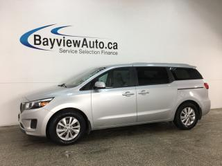 Used 2018 Kia Sedona LX+ - GDI! ALLOYS! ECO MODE! REVERSE CAM! BLUETOOTH! for sale in Belleville, ON