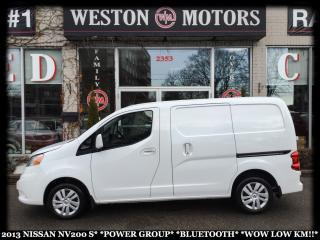 Used 2013 Nissan NV200 S*POWER GROUP*BLUETOOTH*WOW LOW KM!!* for sale in Toronto, ON