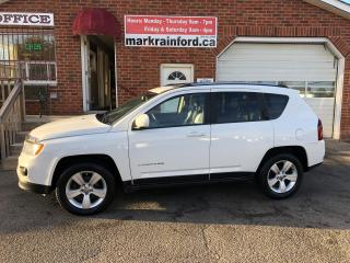 Used 2014 Jeep Compass NORTH 4x4 Leather Sunroof Back up Cam Bluetooth for sale in Bowmanville, ON