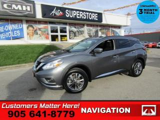 Used 2017 Nissan Murano SV  AWD NAV ROOF CAM PWR-GATE 8W-P/SEAT HTD-S/W HS FOG-LITE for sale in St. Catharines, ON