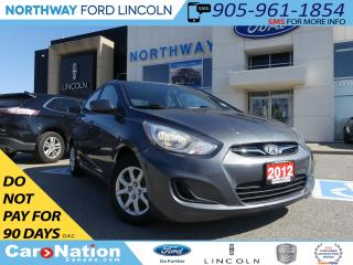 Used 2012 Hyundai Accent GL   LOW KM   SAVE FUEL    AUX AND USB INPUT   for sale in Brantford, ON