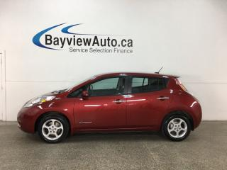 Used 2015 Nissan Leaf SV - QUICK CHARGE! ALLOYS! PUSH BTN START! HTD SEATS! NAV! REVERSE CAM! for sale in Belleville, ON