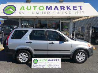 Used 2006 Honda CR-V LX 4WD 5 SPD. FINANCE IT! for sale in Langley, BC