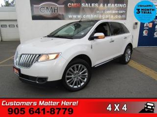 Used 2014 Lincoln MKX AWD NAV ROOF P/GATE CAM CS 4-HS MEM for sale in St. Catharines, ON